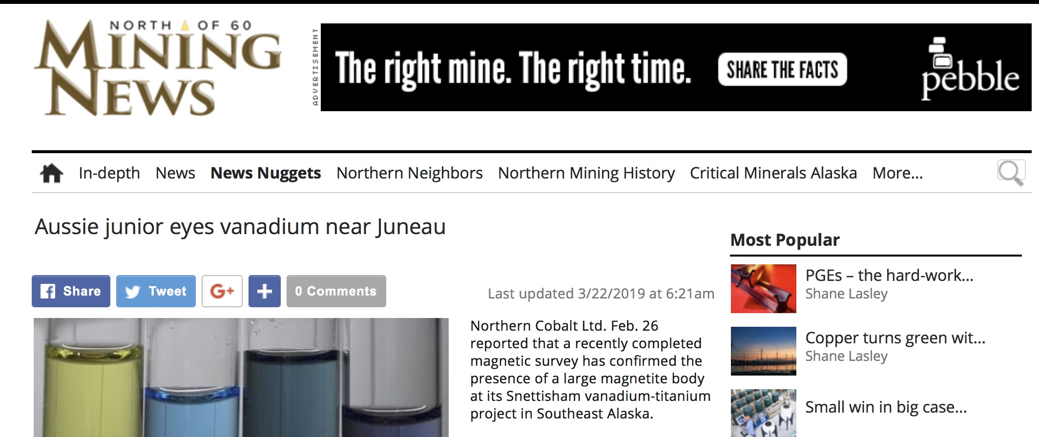 mining news north article